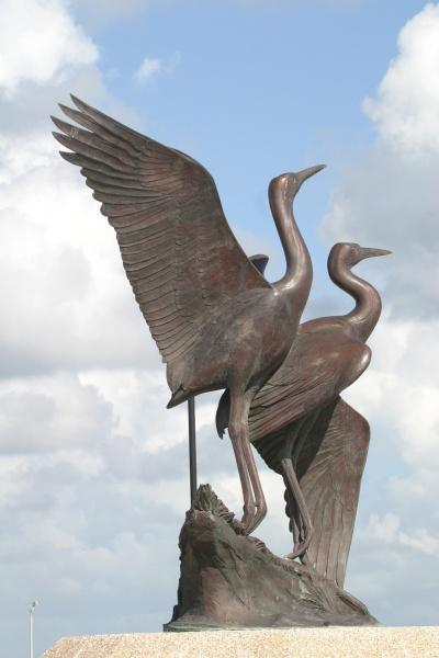 Crane Sculpture - Photo by Diane Loyd